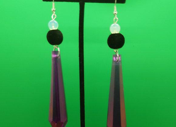 Purple Prism Earrings