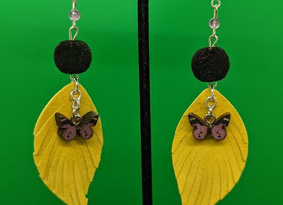 Amethyst Butterflies Earrings