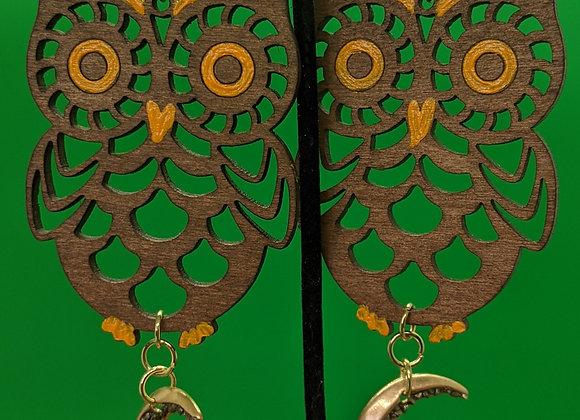 Citrine Owl Earrings