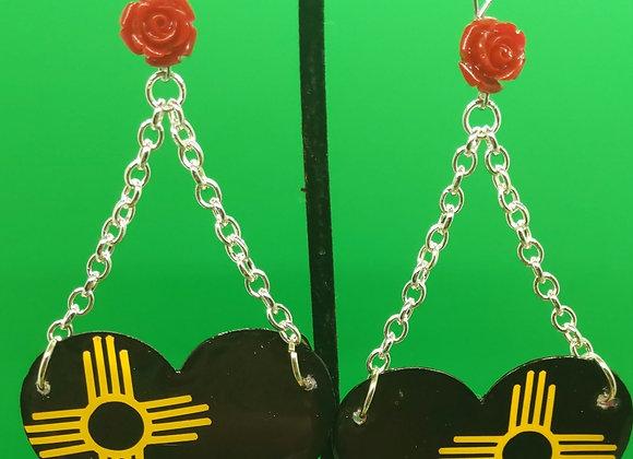 Gold Zia Love Earrings