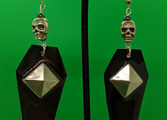 Studded Coffin Earrings