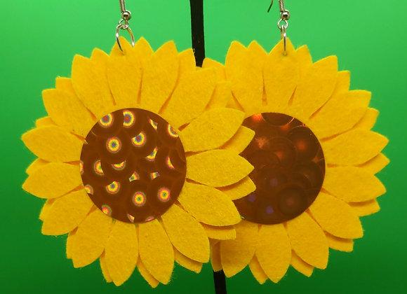 Felt Sunflower Earrings