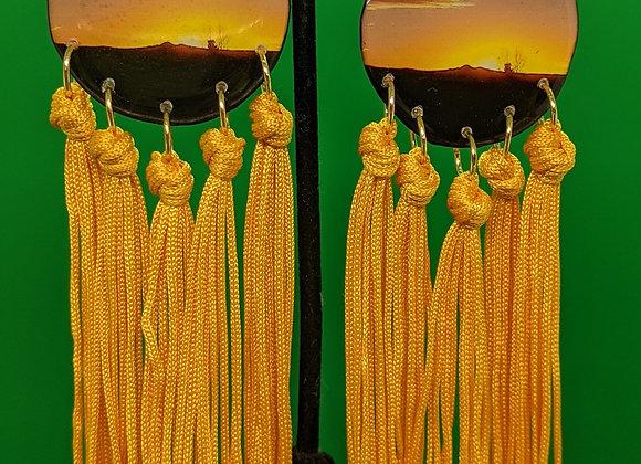 Citrine Sunset Fringe Earrings