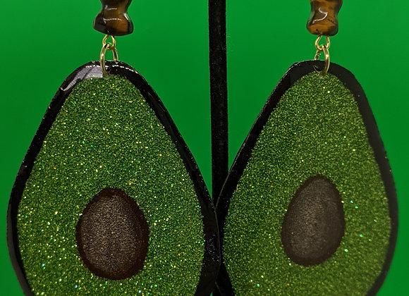 XL Avocado Earrings