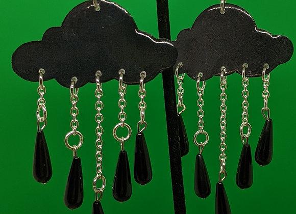 Onyx Raincloud Earrings