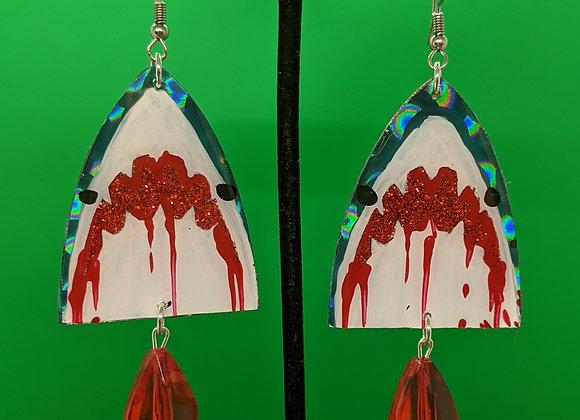 Bloody Shark Earrings