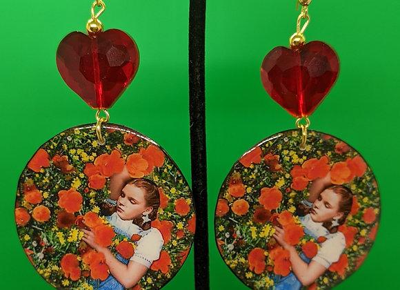 Sleeping in the Poppies Earrings