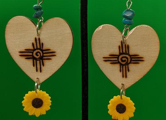 NM Sunflower Earrings