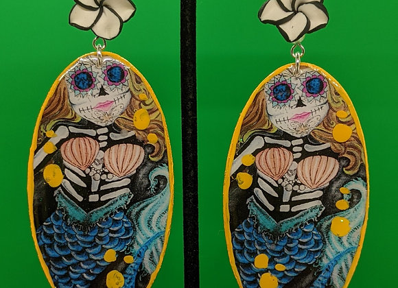 Yello Muerto Mermaid Earrings