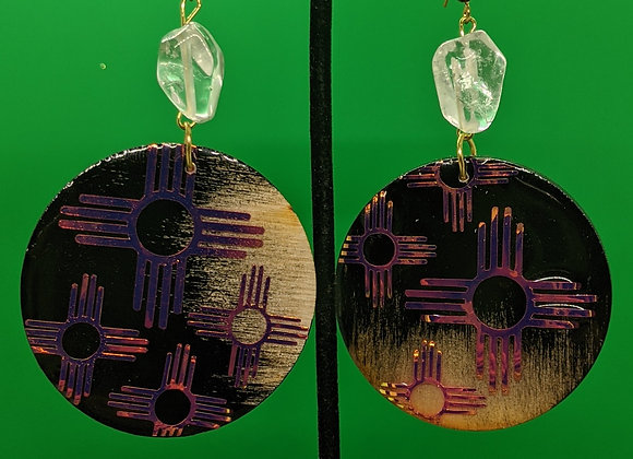 Zia Print Quartz Earrings