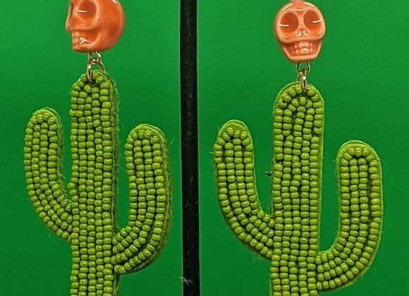 Calavera Cactus Earrings