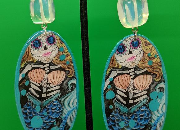 Opalite Mermaid Earrings