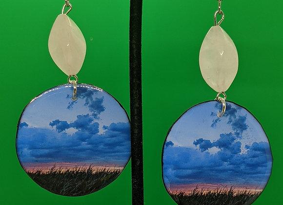 Rose Quartz Corn Field Earrings