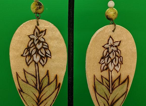 Serpentine Yucca Earrings