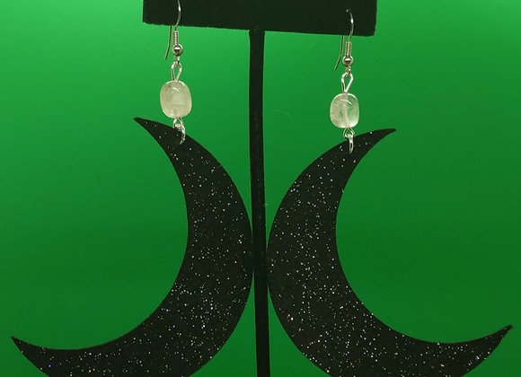 Felt Moon Earrings