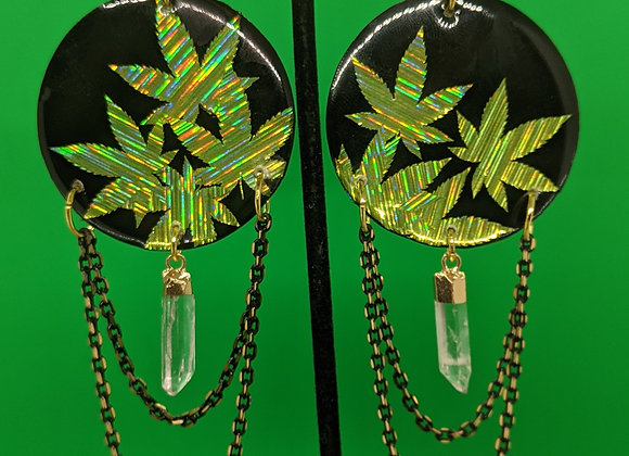 Ganja Goddess Earrings