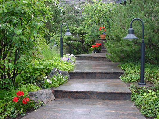 Multicolor Gartentreppe