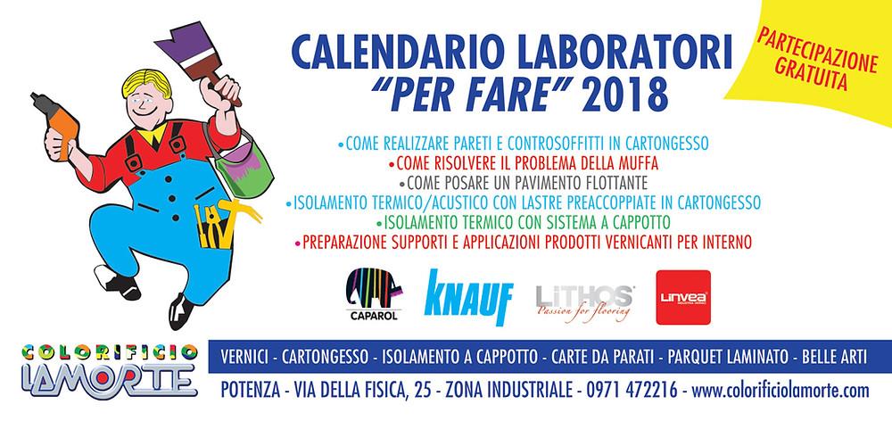 Calendario Laboratori PER FARE 2018