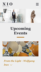 Events website templates – Private Art Gallery