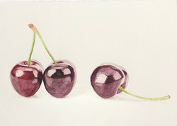 Glossy Black Cherries