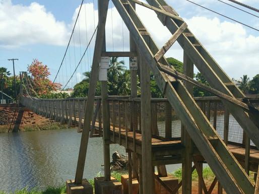 The Swinging Bridge on Kauai