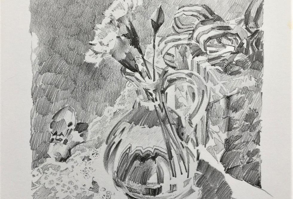 Cruet and Carnations