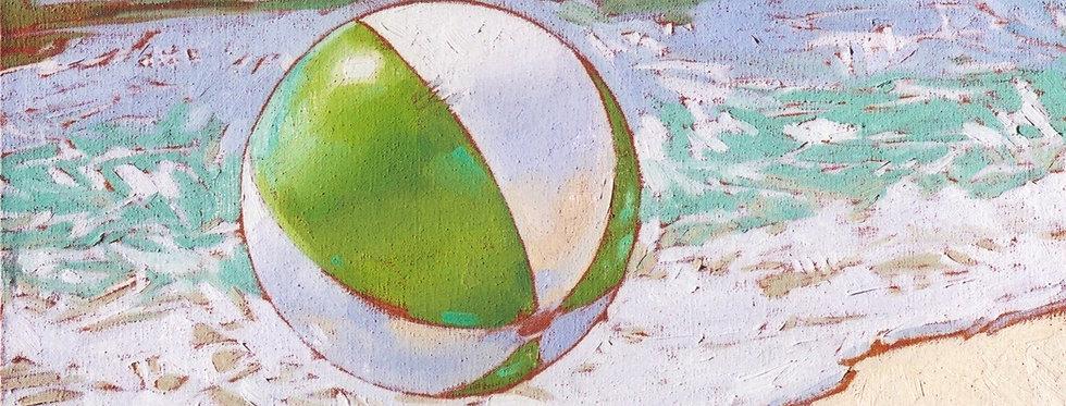 Apple and white Beachball