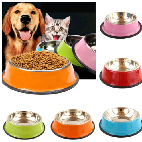 Stainless Steel Dog And Cat Food And Water Bowl