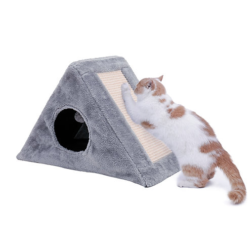 Funny Cat scratch board Natural Cat Caught Cat Funny Toy Cat Gray Crawler Tree