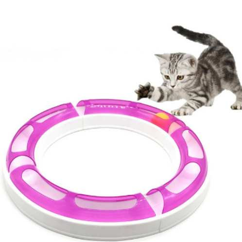 Cat Chase Game Track Ball Turntable