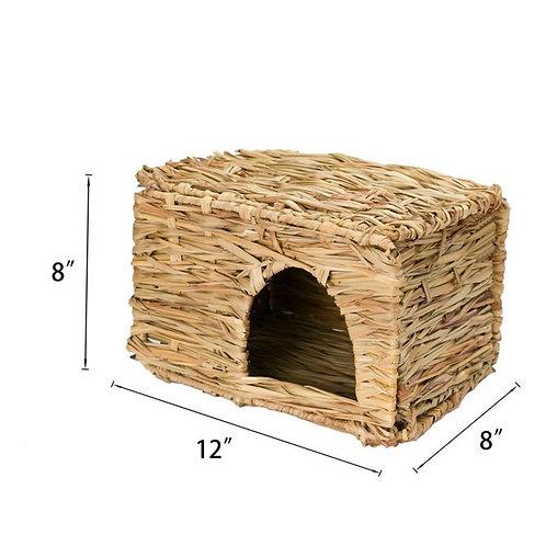 Pet Nest Folding Straw House Rabbit Chinchillas Hamster Handmade Straw Grass
