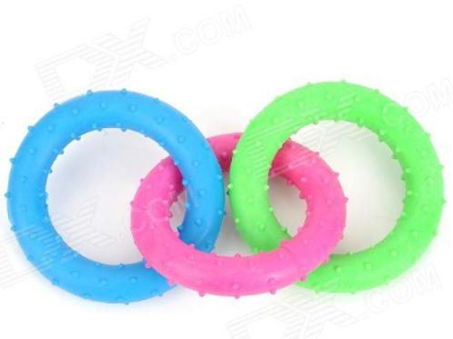 Three-Ring Dog Molar Toy