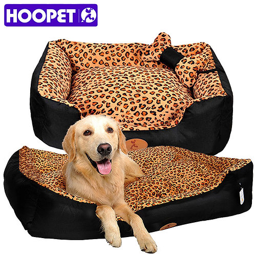 HOOPET dog nest camas para caes warm pet house pets bed big house for dogs