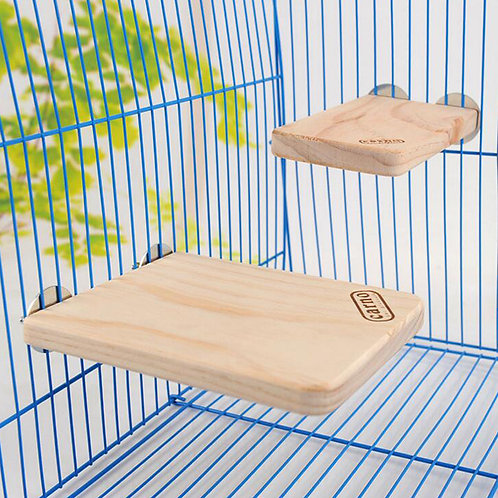 New Small Animal Pet Wooden Pedal Totoro Hamster Squirral Pet Natural Wooden