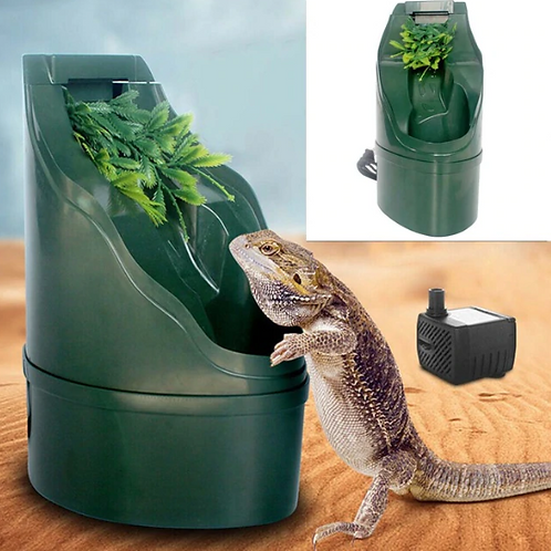 180*125mm ABS Automatic Reptile Filter Drinking Water Fountain