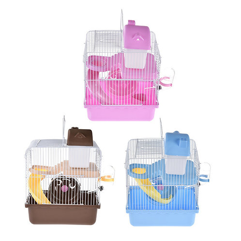 Hamster Cage Double-deck with Slide Disk