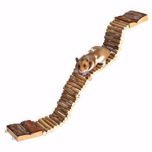 New Flexible Funny Pet Mouse Hamster Rat Ladder Hanging Wood Bridge Pet Gerbil