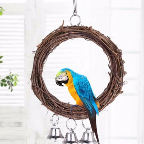 Bird Wooden Hanging Toy With Bells