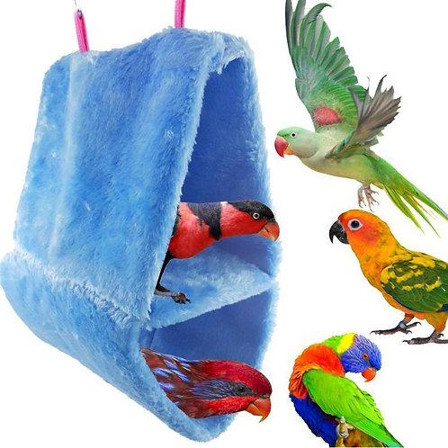 Winter Double Layer Coral Fleece Birds Hammock Parrot house bed Warm Nest