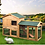 "Thumbnail: 61"" Wooden Chicken Coop Hen House Large 2 Layer Rabbit Hutch Poultry Cage"