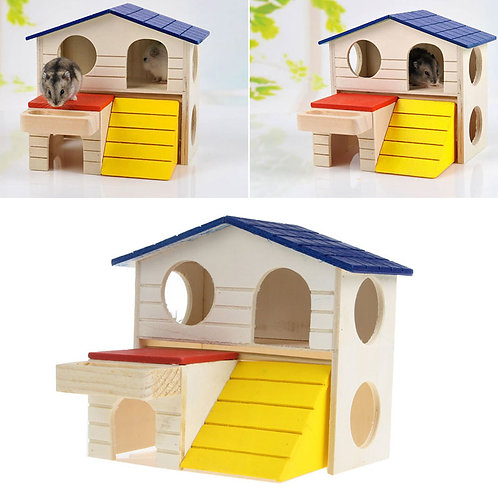 Wooden Hamster Rat House Hamster Supplies Pet Small Animal Rabbit Mouse