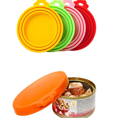 Pet Food Can Cover Silicone Dogs Cats Storage Tin Cap Lid Reusable pet supplies