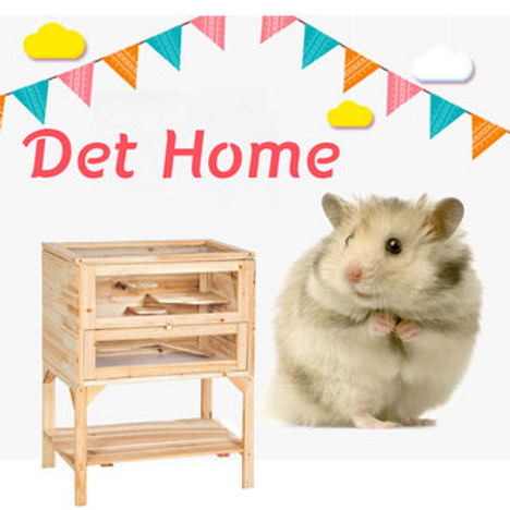 Wooden 3 Tiers Hamster House