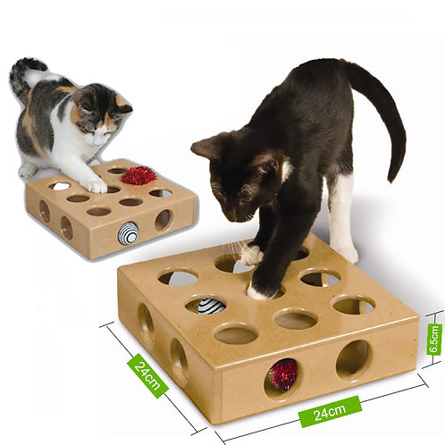 Pet Supplies Interactive Puzzle Play Toy Box Cats Hide Seek Box Scratching Toy