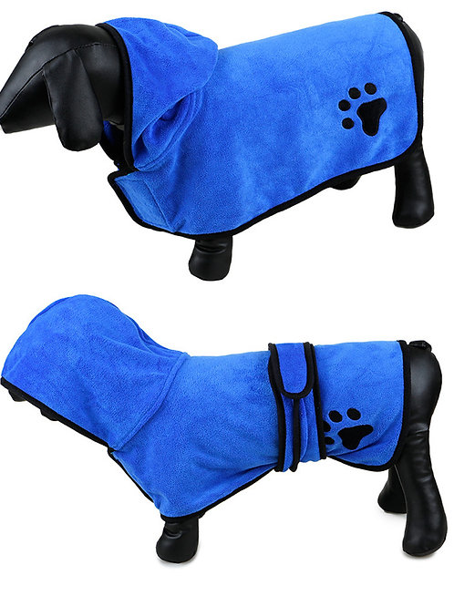 Hot Sales XS-XL Pet Drying Towel Embroidery Paw Absorbent Bath Towel Dog