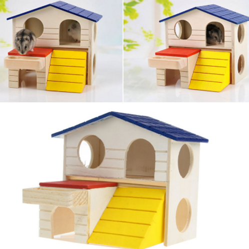 Hamster Rat Mouse Wooden House Hideout