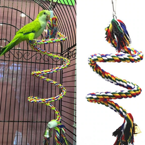 50 cm  Braided Chew Toy For Birds