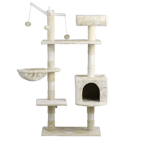 Three-Layer Beige Cat Tree