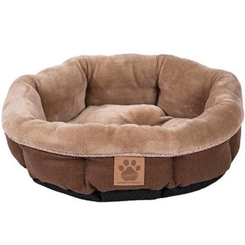 Round Shearling Dog Bed