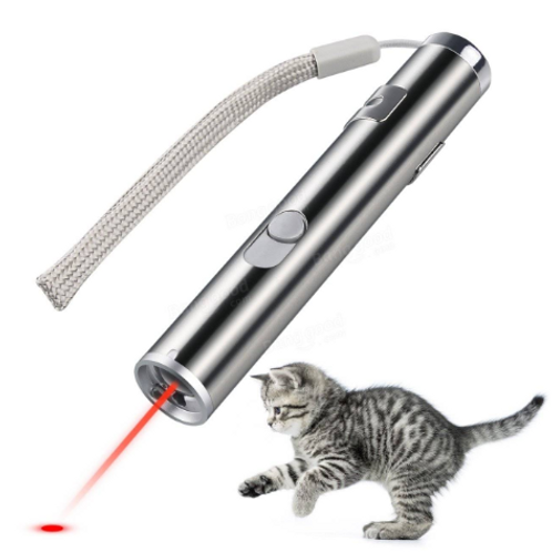 Cat USB Rechargeable Laser Pointer With LED Flashlight